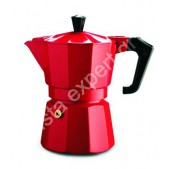 Pezzetti Italexpress Καφετιέρα Μόκα Εσπρέσο Κόκκινη 3 Φλιτζάνια