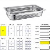Gastronom Διάτρητη Λεκάνη 1/1 150 mm Βάθος