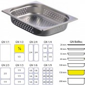 Gastronom Διάτρητη Λεκάνη 1/2 150 mm Βάθος