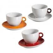 Φλυτζάνι Cappuccino 482/2 Πορσελάνη Χερούλι Διάφορα Χρώματα 210 ml