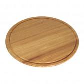 Πιάτο Ξύλινο με Λούκι Φ35 cm