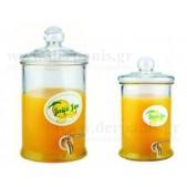 Βάζο με Αεροστεγές Καπάκι και Βρύση 2500 ml