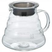Hario Γυάλινη κανάτα σερβιρίσματος καφέ V60, 600ml διάφανης
