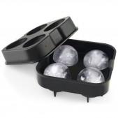 Παγοθήκη-Ice Βall Mold Σιλικόνης 4 Ice