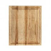 Ξύλινο πιάτο καστανιάς 30×25 με λούκι
