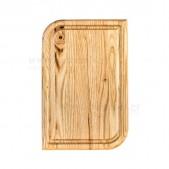 Ξύλινο πιάτο καστανιάς 30×20 με λούκι