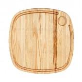 Ξύλινο πλατώ καστανιάς 35×35 με λούκι & ντιπ